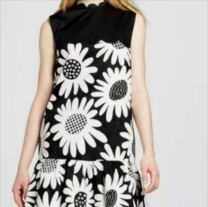NWT Victoria Beckham Black/White Daisy Dress XL